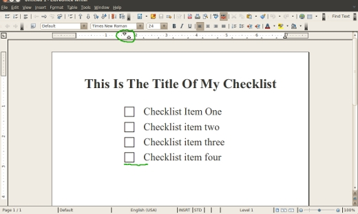 Create Printable Checklists With LibreOffice or OpenOffice ...